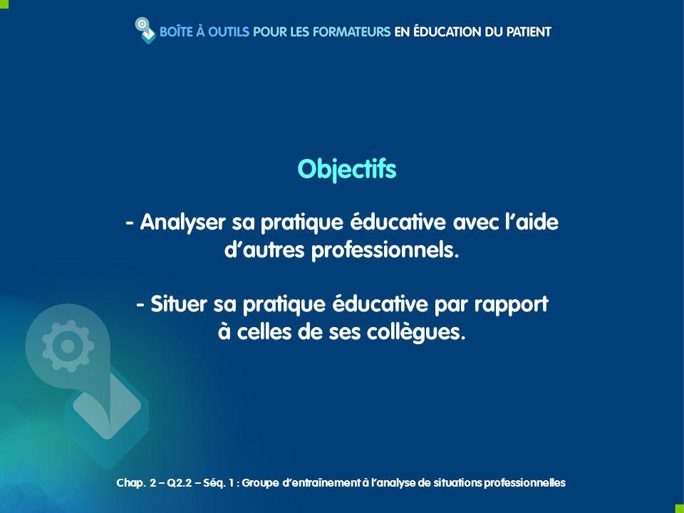- Analyser sa pratique éducative avec laide dautres professionnels.