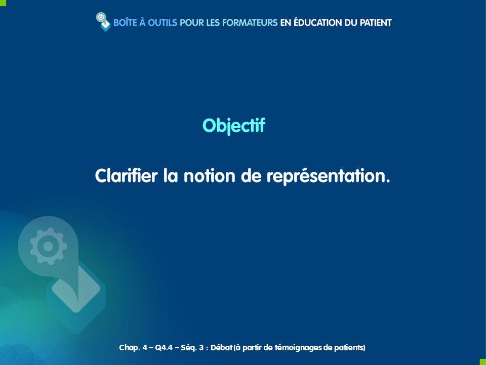 Débat Chap. 4 – Q4.4 – Séq. 3 : Débat (à partir de témoignages de patients)