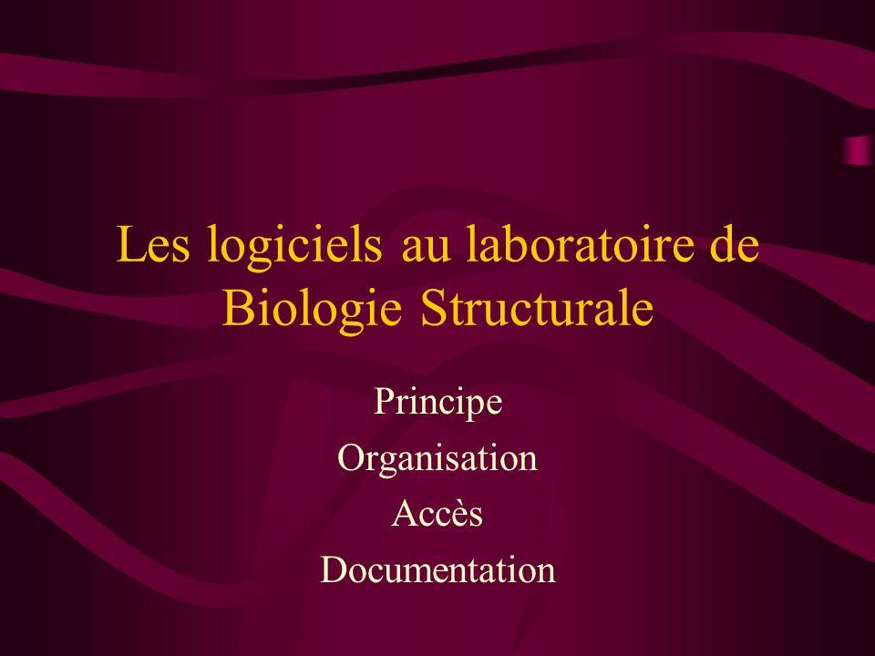 Les logiciels au laboratoire de Biologie Structurale Principe Organisation Accès Documentation