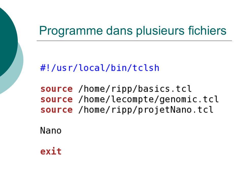 Programme dans plusieurs fichiers
