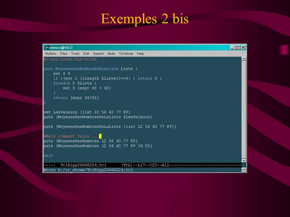Exemples 2 bis