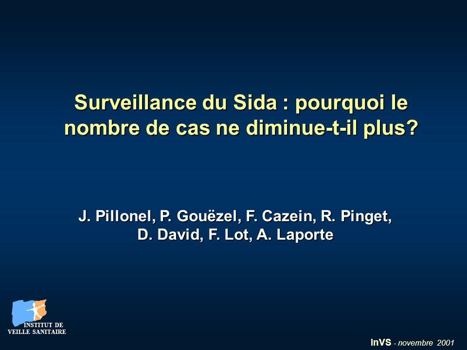 InVS - novembre 2001 INSTITUT DE VEILLE SANITAIRE INSTITUT DE VEILLE SANITAIRE Surveillance du Sida : pourquoi le nombre de cas ne diminue-t-il plus?