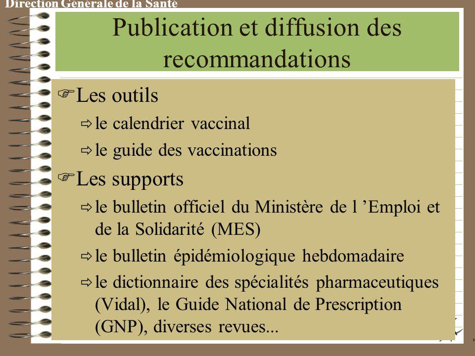 Direction Générale de la Santé Recommandations et obligations vaccinales Obligations Lois et décrets d application Contrôles, sanctions Indemnisation