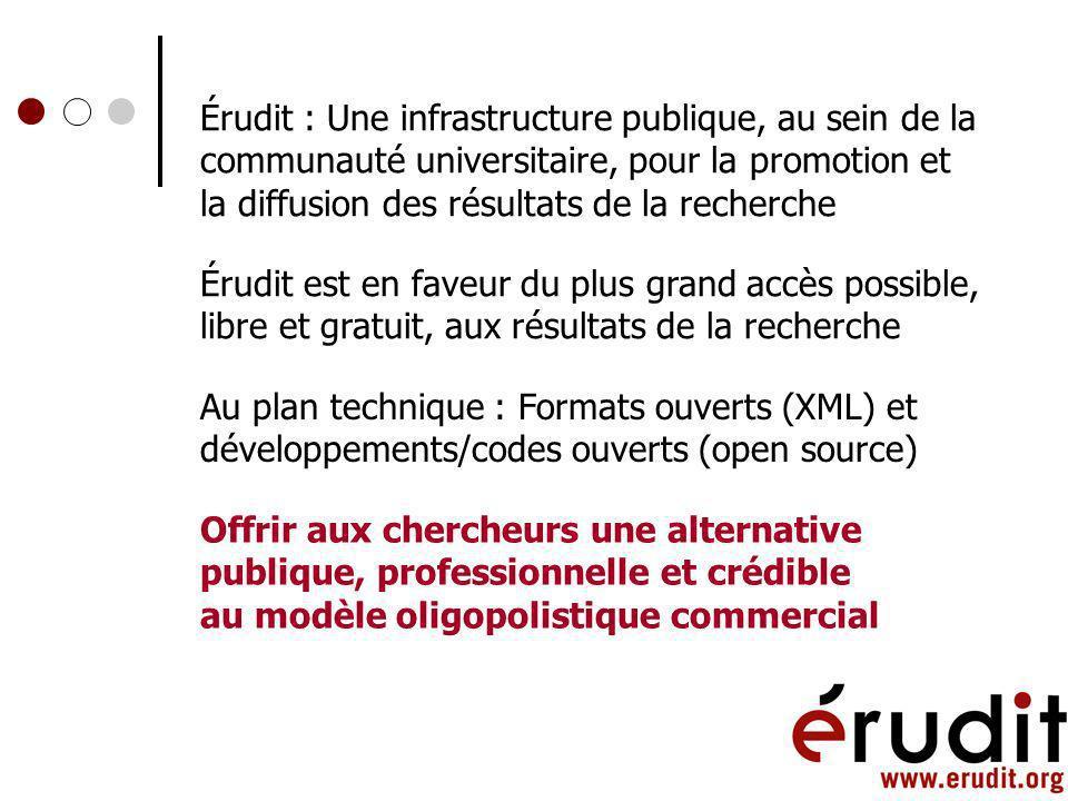 Consortium Érudit : Université de Montréal, Université Laval et Université du Québec à Montréal Subventions du gouvernement du Québec et des instituti