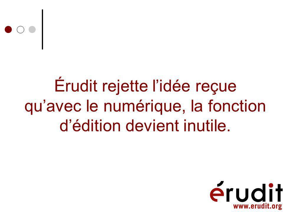 ÉruditArticle DTD/Schema Autres services OAi, Metadata, EndNote, Procite, MARC, etc.