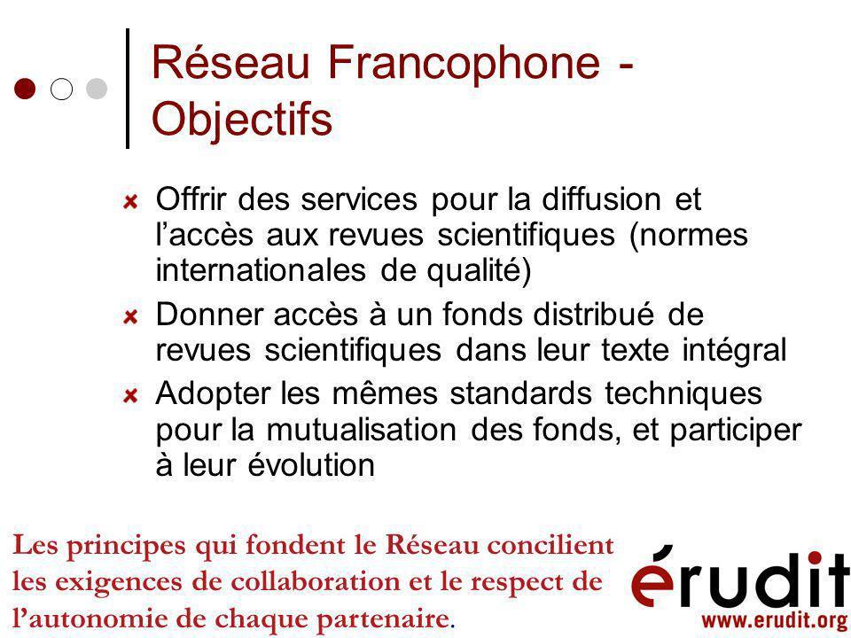 Collaboration au-delà de la diffusion Développement doutils en collaboration Normes assurant linteropérabilité Outils de production Outils de linfrast