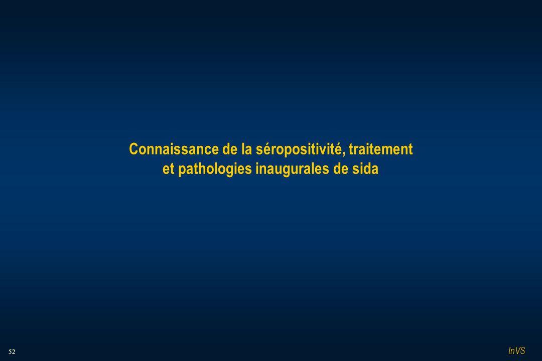 52 Connaissance de la séropositivité, traitement et pathologies inaugurales de sida InVS