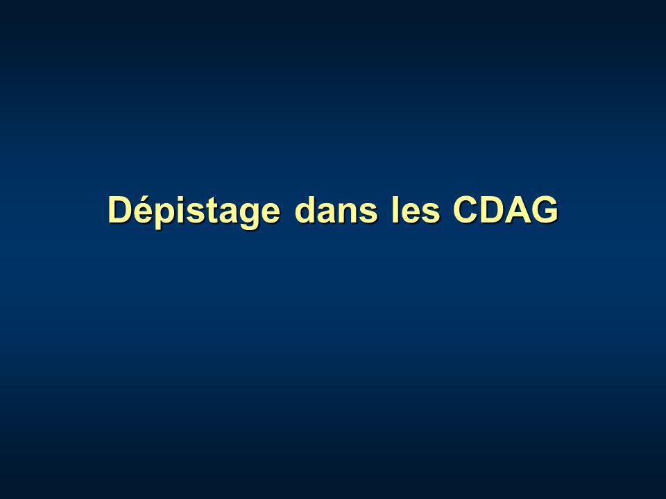 Dépistage dans les CDAG