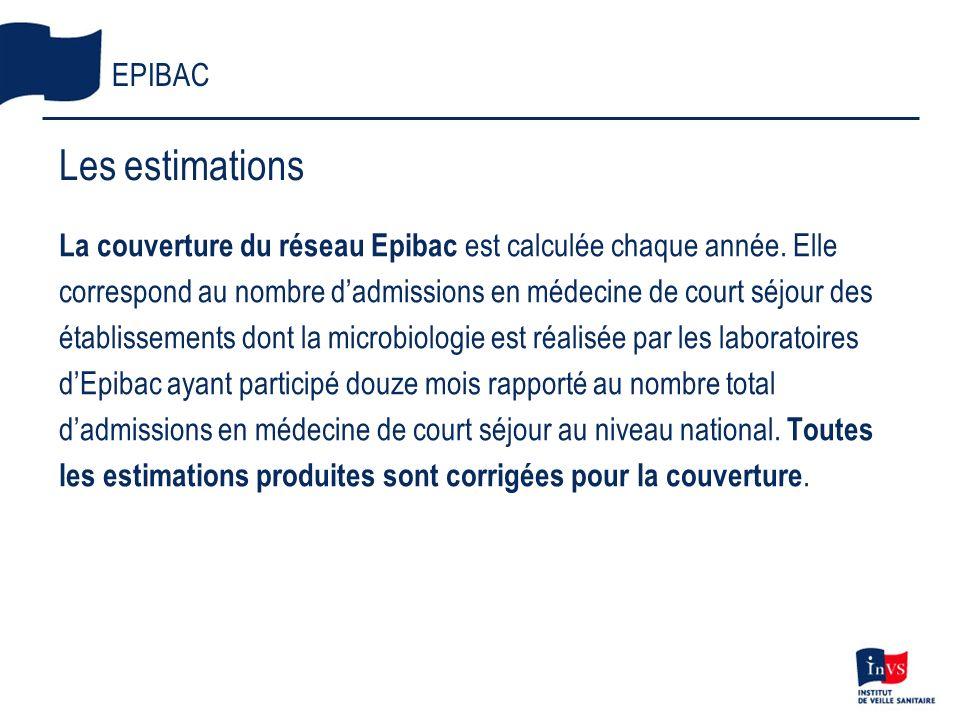 La couverture du réseau Epibac est calculée chaque année. Elle correspond au nombre dadmissions en médecine de court séjour des établissements dont la