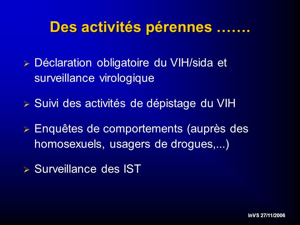 InVS 27/11/2006 …..Poursuite de la recherche opérationnelle en 2007…..