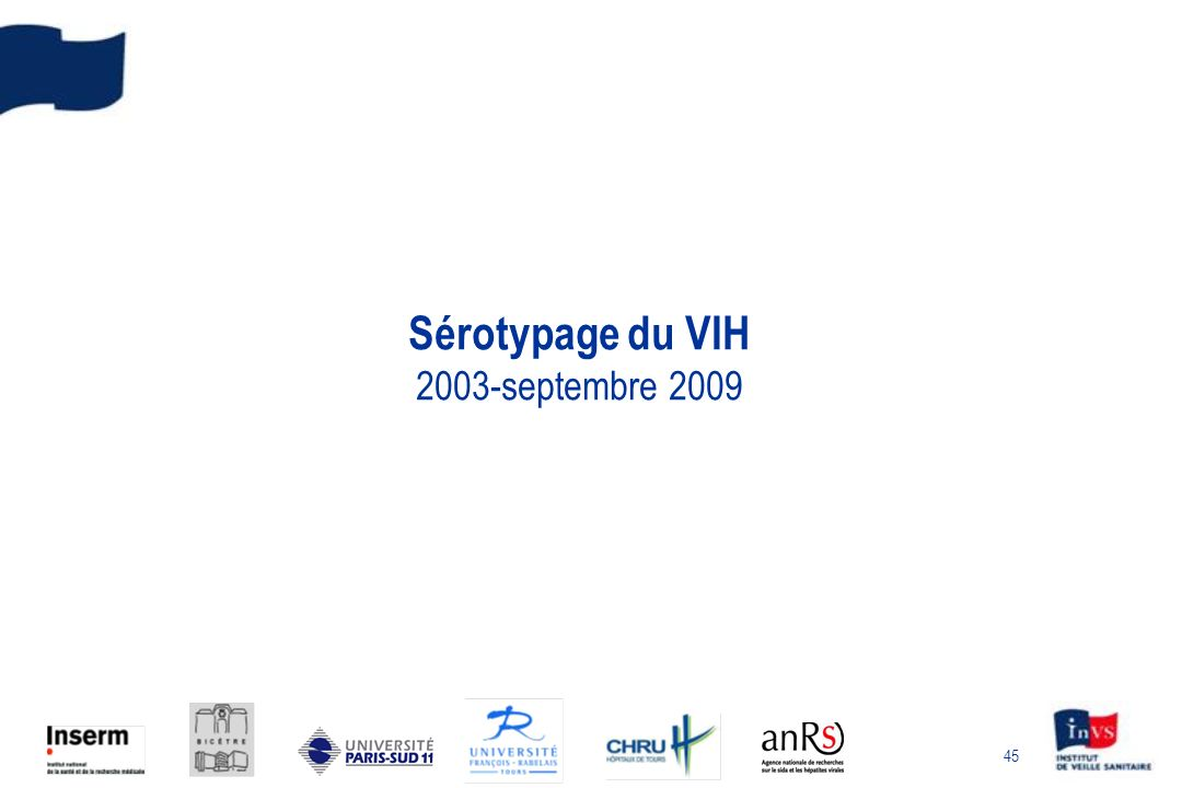45 Sérotypage du VIH 2003-septembre 2009