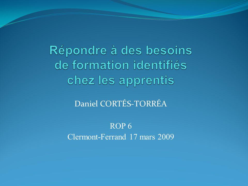 Daniel CORTÉS-TORRÉA ROP 6 Clermont-Ferrand 17 mars 2009
