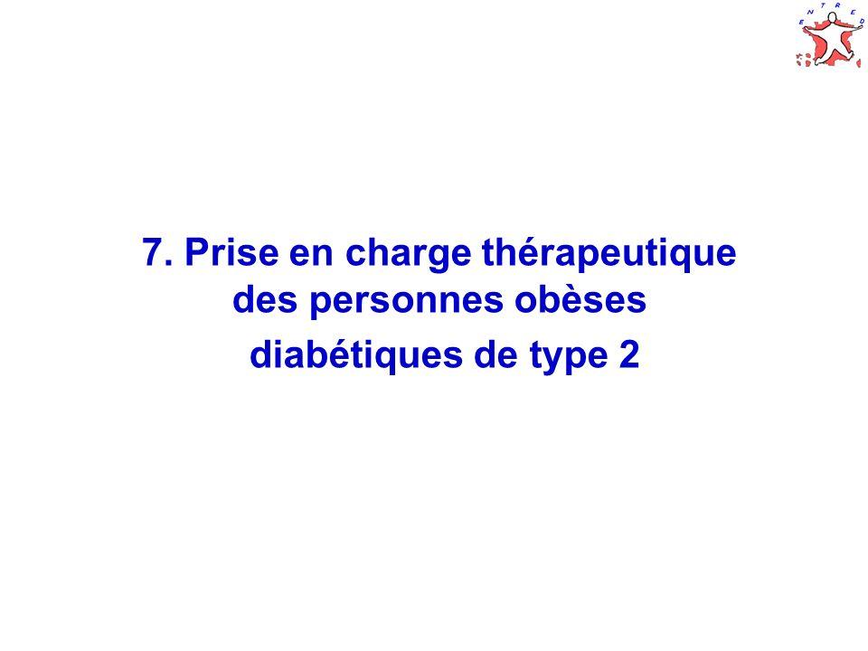 40 7. Prise en charge thérapeutique des personnes obèses diabétiques de type 2