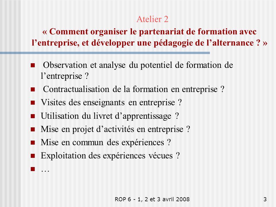 ROP 6 - 1, 2 et 3 avril 20082 « La mixité des statuts des publics, cest quoi ? » Cest réunir des publics différents (élèves, apprentis et éventuelleme