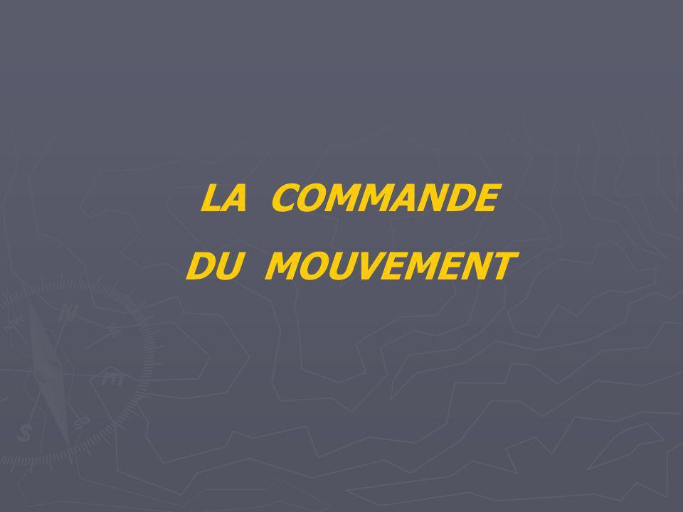 LA COMMANDE DU MOUVEMENT
