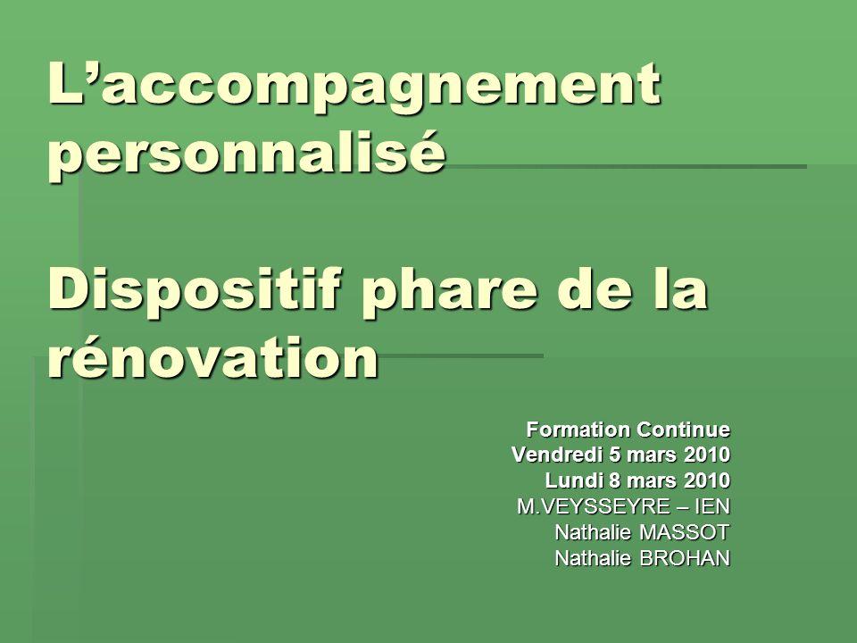 Des préalables indispensables à laccompagnement personnalisé organisé durant la formation