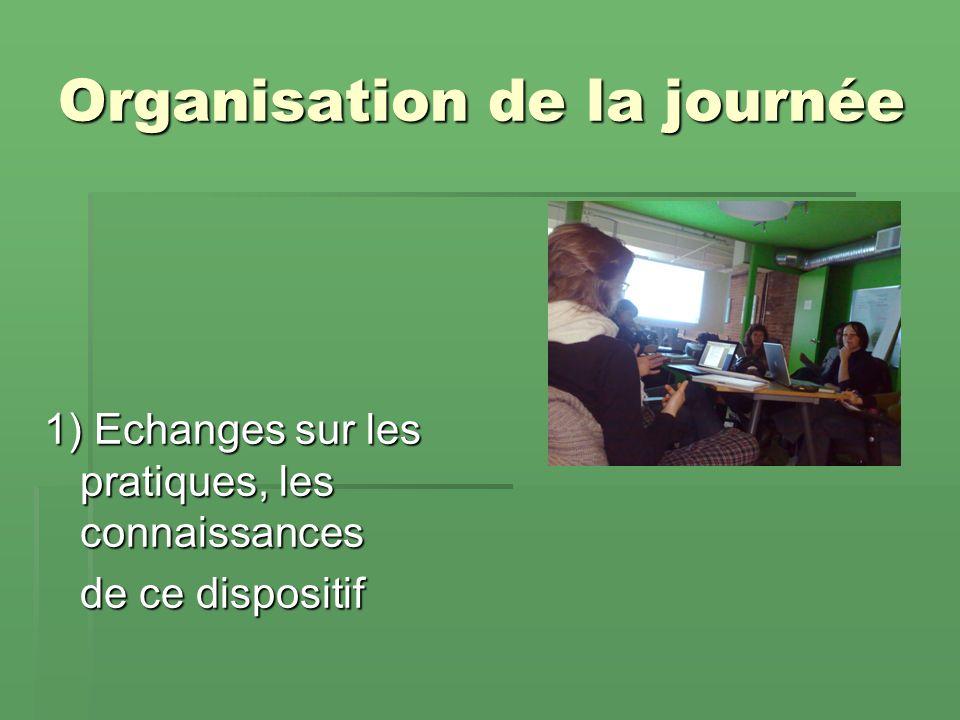 Organisation de la journée 1) Echanges sur les pratiques, les connaissances de ce dispositif
