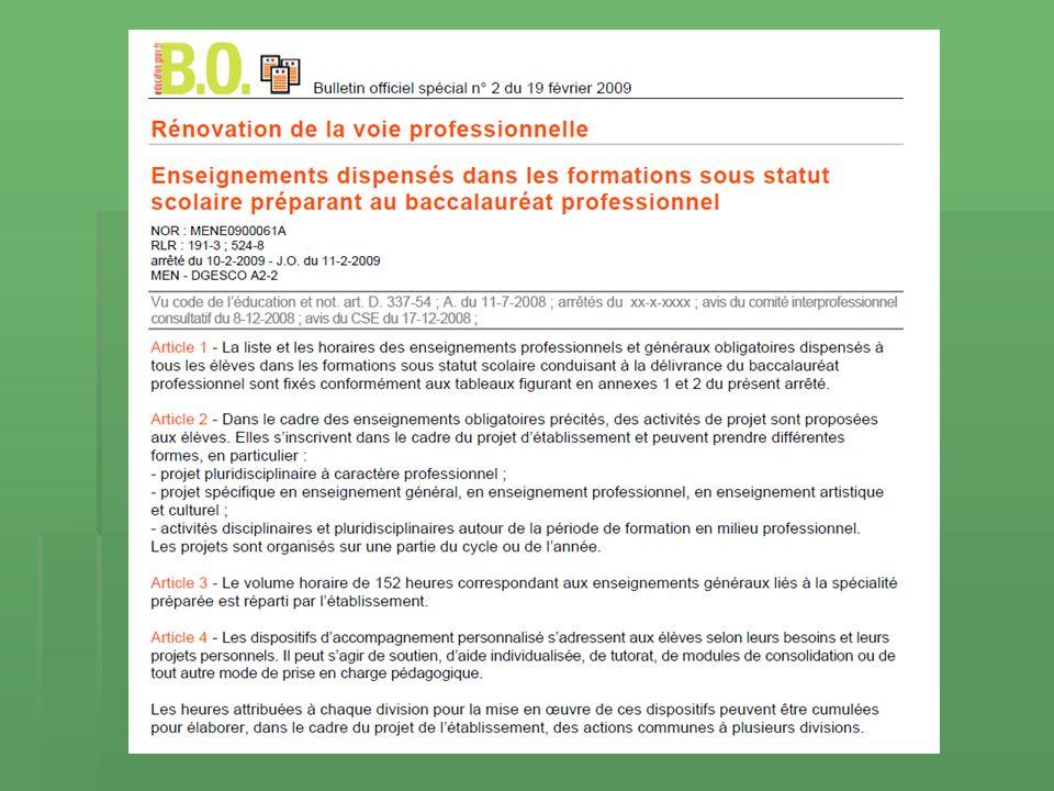 Les références officielles B.O. spécial n° 2 du 19 février 2009 B.O.
