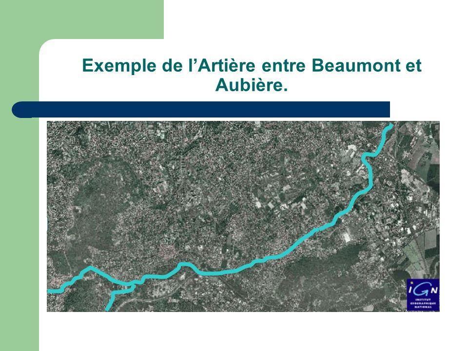 Exemple de lArtière entre Beaumont et Aubière.
