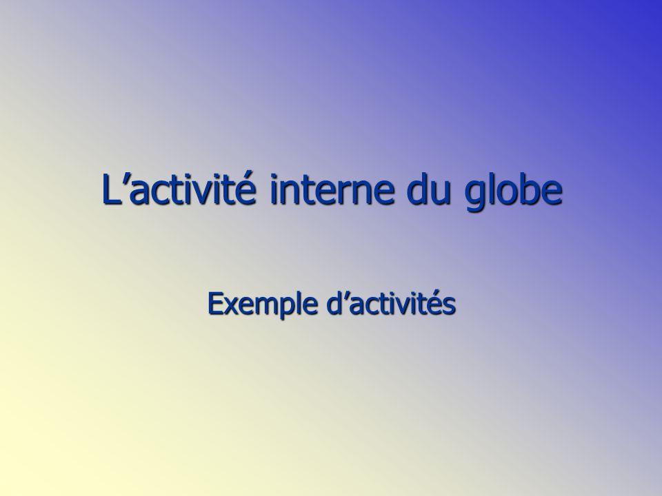 Lactivité interne du globe Exemple dactivités
