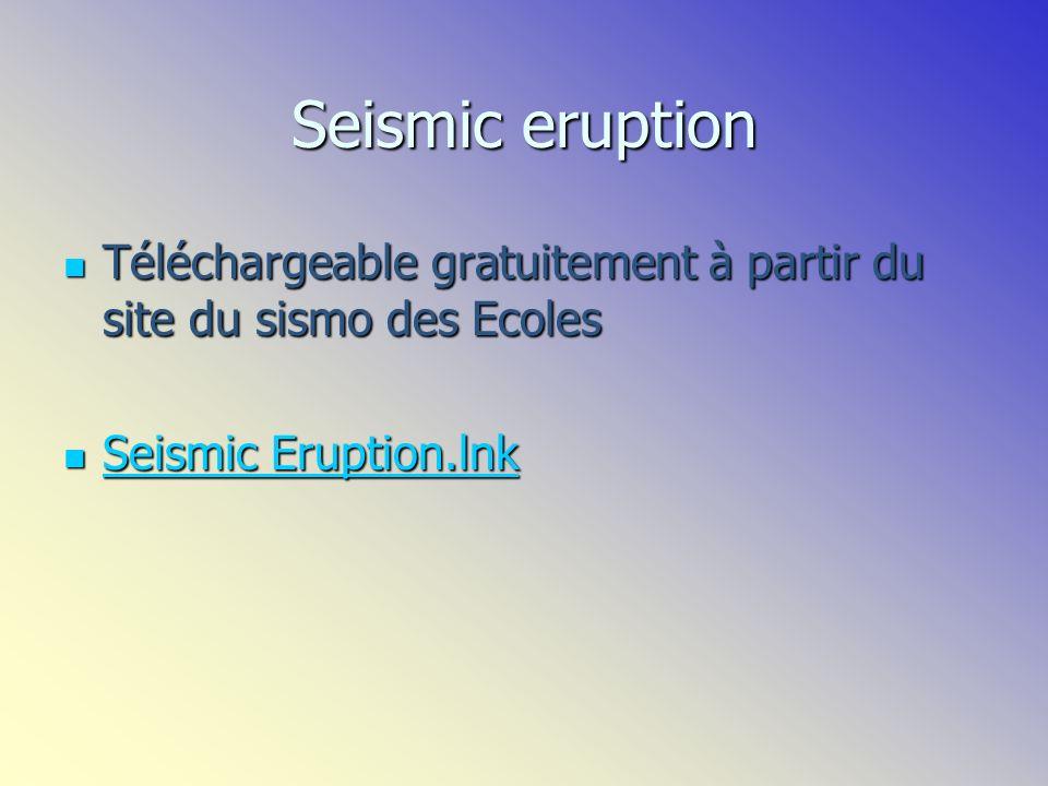 Site denregistrement permanent des séismes à travers le Monde à tout instant http://earthquake.usgs.gov