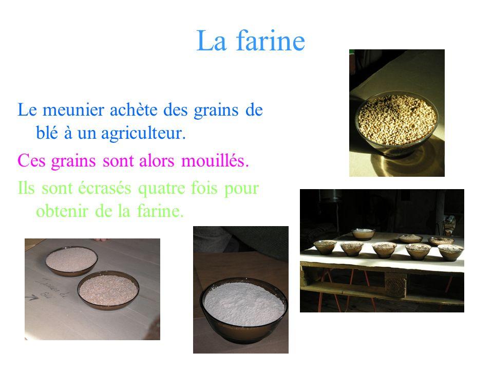 La machine à moudre sert à faire de la farine et à trier les grains de blé. Il faut beaucoup de quantité d eau. Dans la machine à moudre il y a des ro