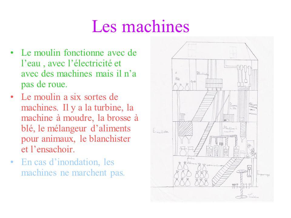 Le moulin daujourdhui Le moulin est à Vaumas. A côté il y a la Besbre (rivière). Il y a trois étages. Il a 10 mètres de hauteur. Il a 240 m² de superf