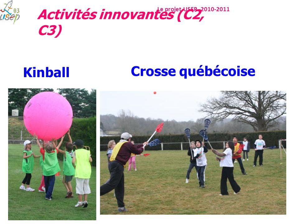 Le projet USEP 2010-2011 Crosse québécoise Kinball Activités innovantes (C2, C3)