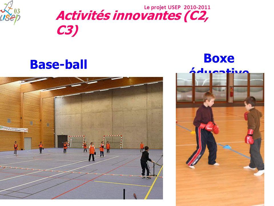 Le projet USEP 2010-2011 Boxe éducative Base-ball Activités innovantes (C2, C3)