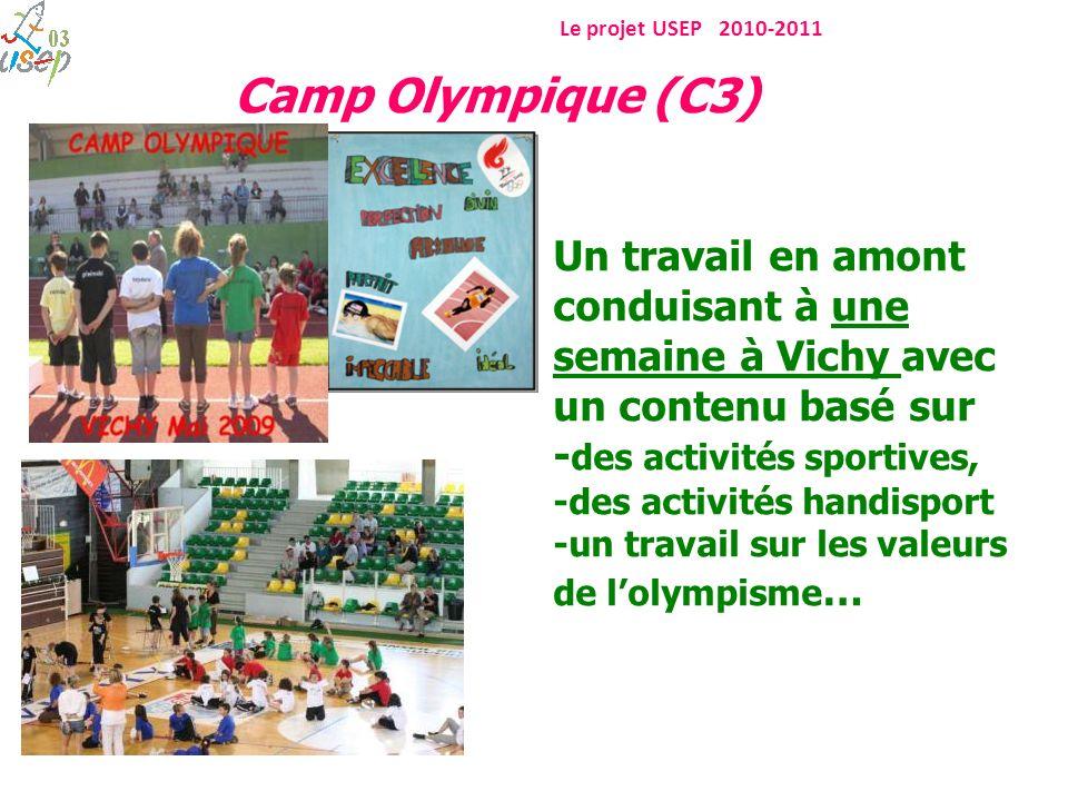 Un travail en amont conduisant à une semaine à Vichy avec un contenu basé sur - des activités sportives, -des activités handisport -un travail sur les