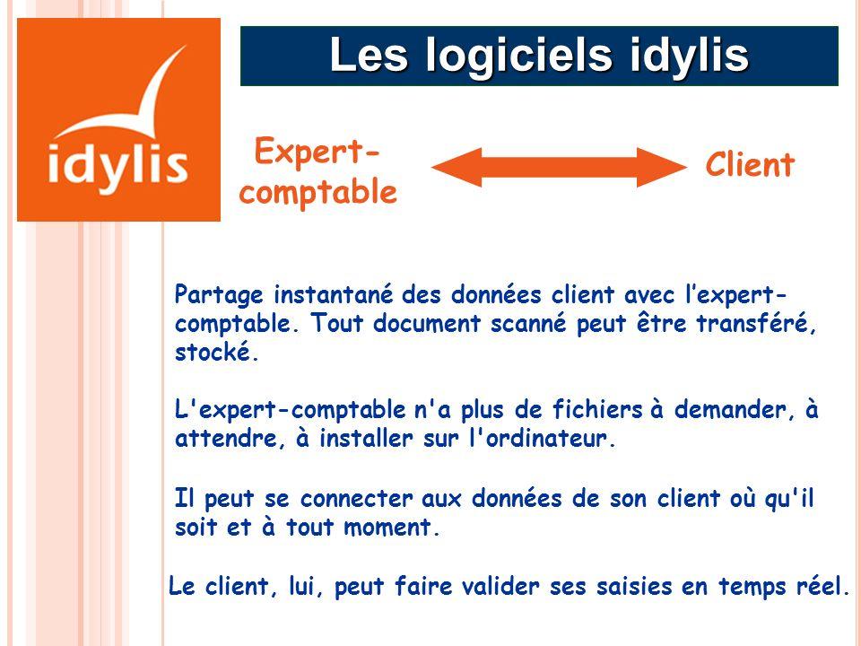 Expert- comptable Partage instantané des données client avec lexpert- comptable. Tout document scanné peut être transféré, stocké. L'expert-comptable