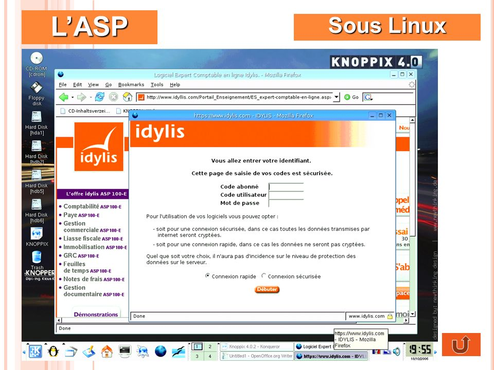 LASP Sous Linux
