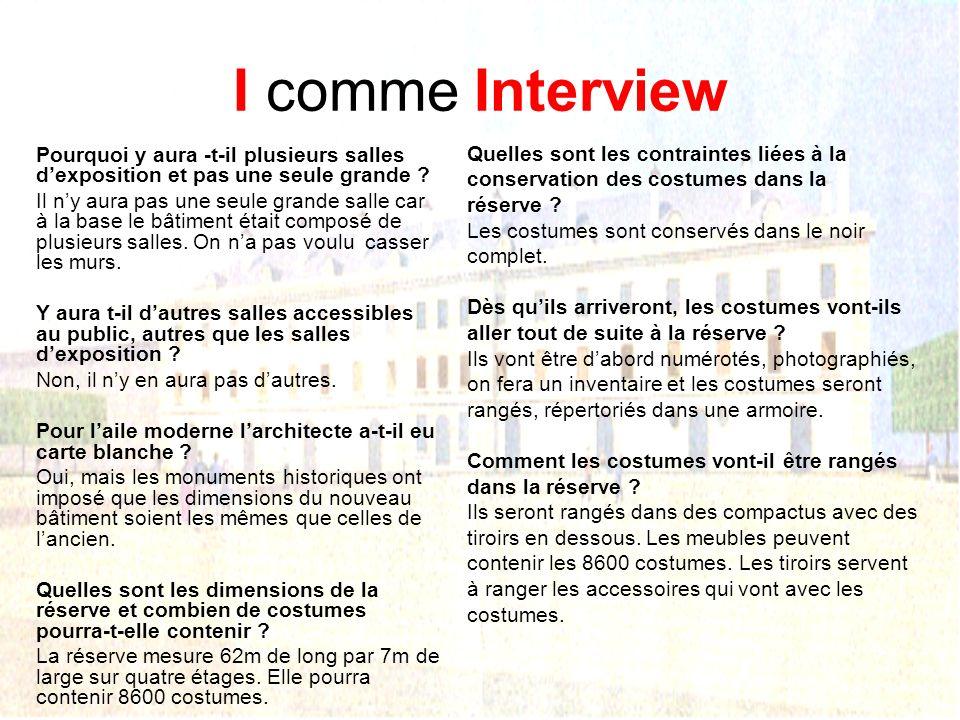 I comme Interview Nous sommes allés au quartier Villars interviewer Mr Brudin larchitecte. Pourquoi ce site a-t-il été choisi pour installer un musée