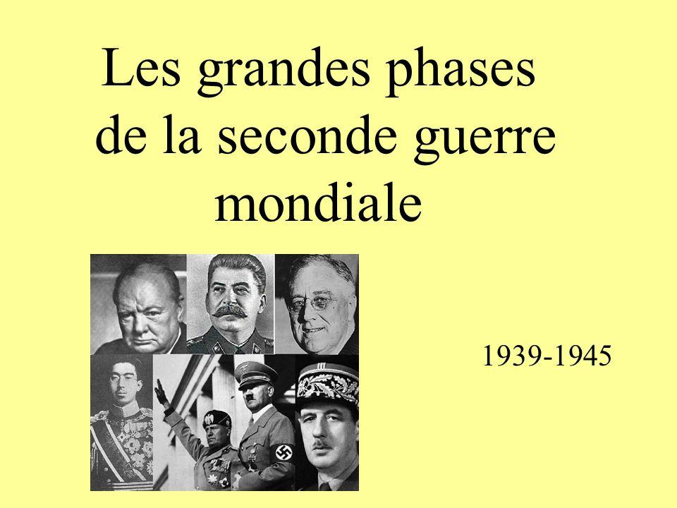 Les grandes phases de la seconde guerre mondiale 1939-1945