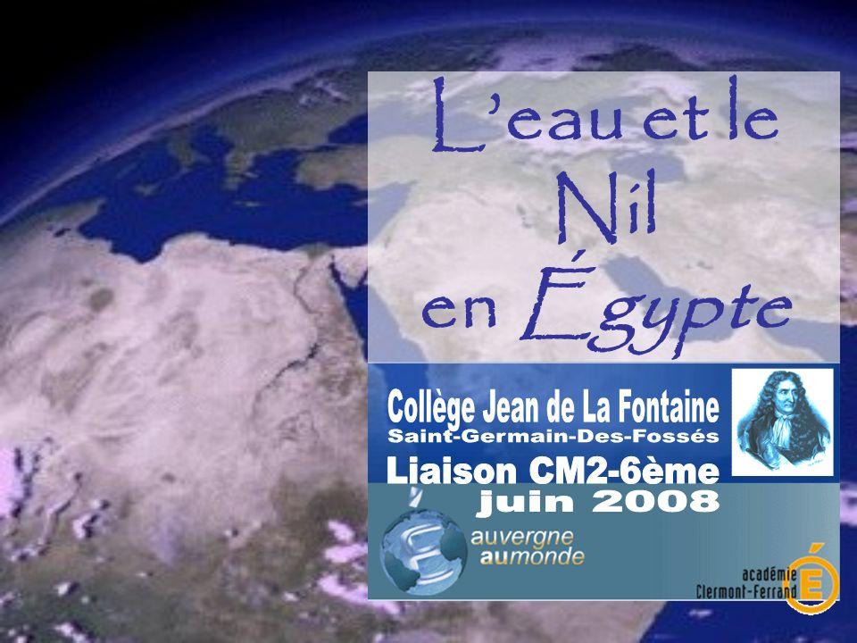 Leau et le Nil en Égypte