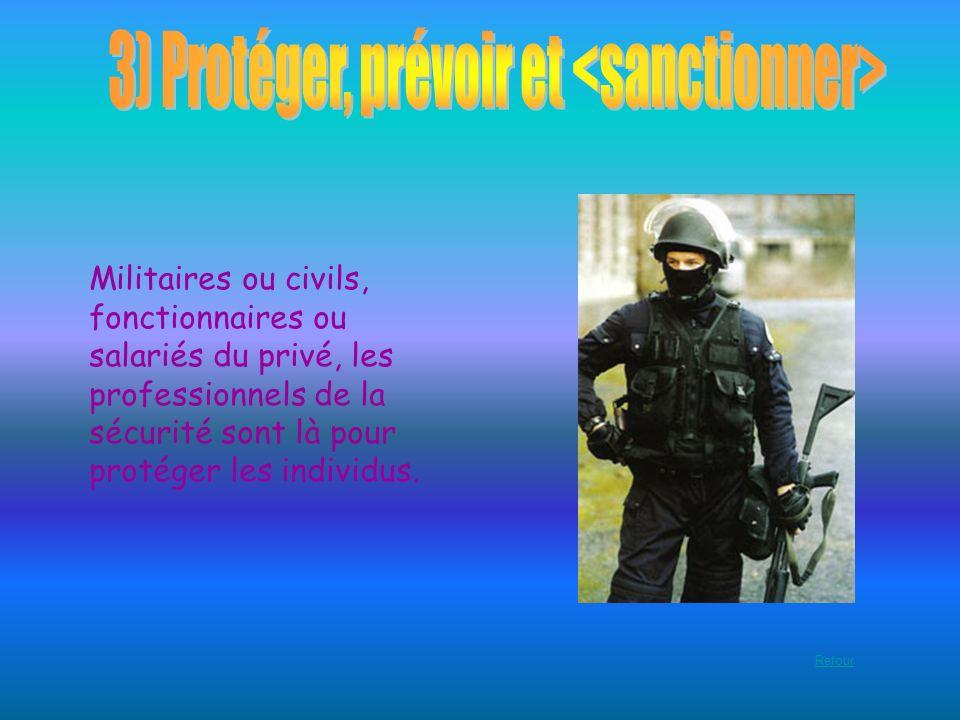Militaires ou civils, fonctionnaires ou salariés du privé, les professionnels de la sécurité sont là pour protéger les individus. Retour