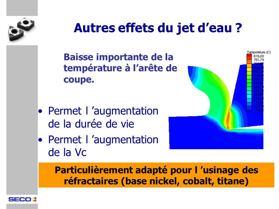 Permet l augmentation de la durée de vie Permet l augmentation de la Vc Particulièrement adapté pour l usinage des réfractaires (base nickel, cobalt,