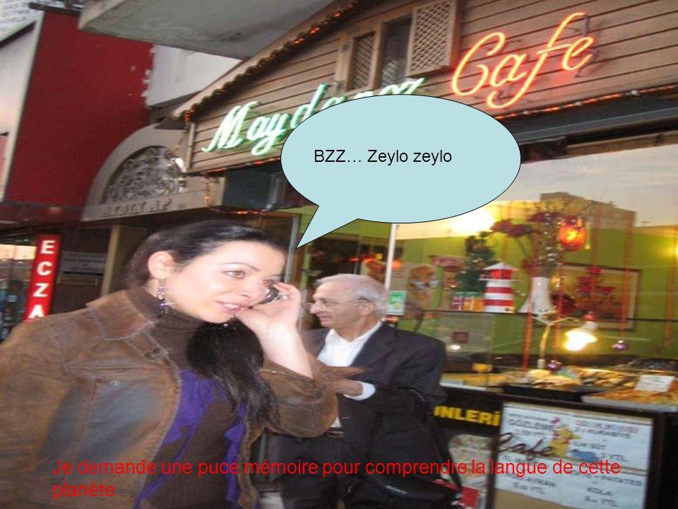 BZZZ… Zeylo zeylo Je demande une puce mémoire pour comprendre la langue de cette planète.