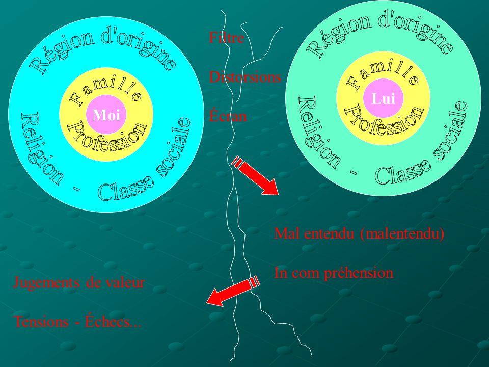 Moi Lui Filtre Distorsions Écran Mal entendu (malentendu) In com préhension Jugements de valeur Tensions - Échecs...