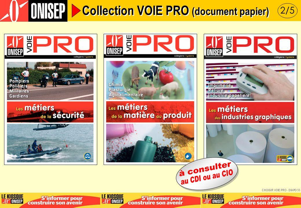 3/5 Collection VOIE PRO (document papier) CHOISIR VOIE PRO - DIAPO 56