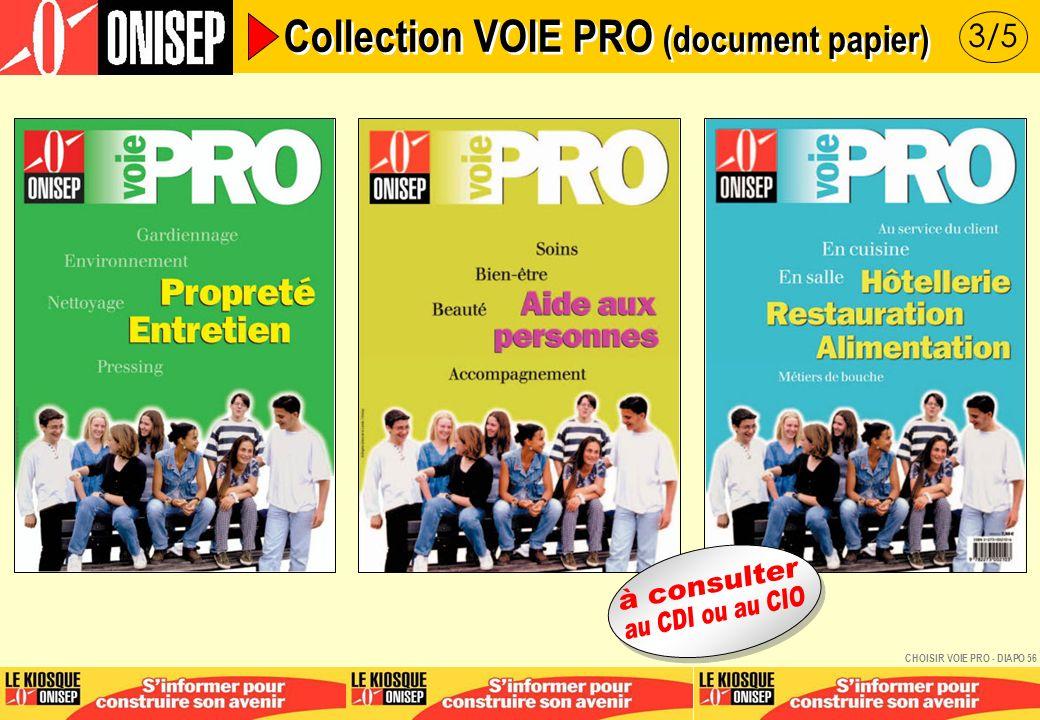 4/5 Collection VOIE PRO (document papier) CHOISIR VOIE PRO - DIAPO 57