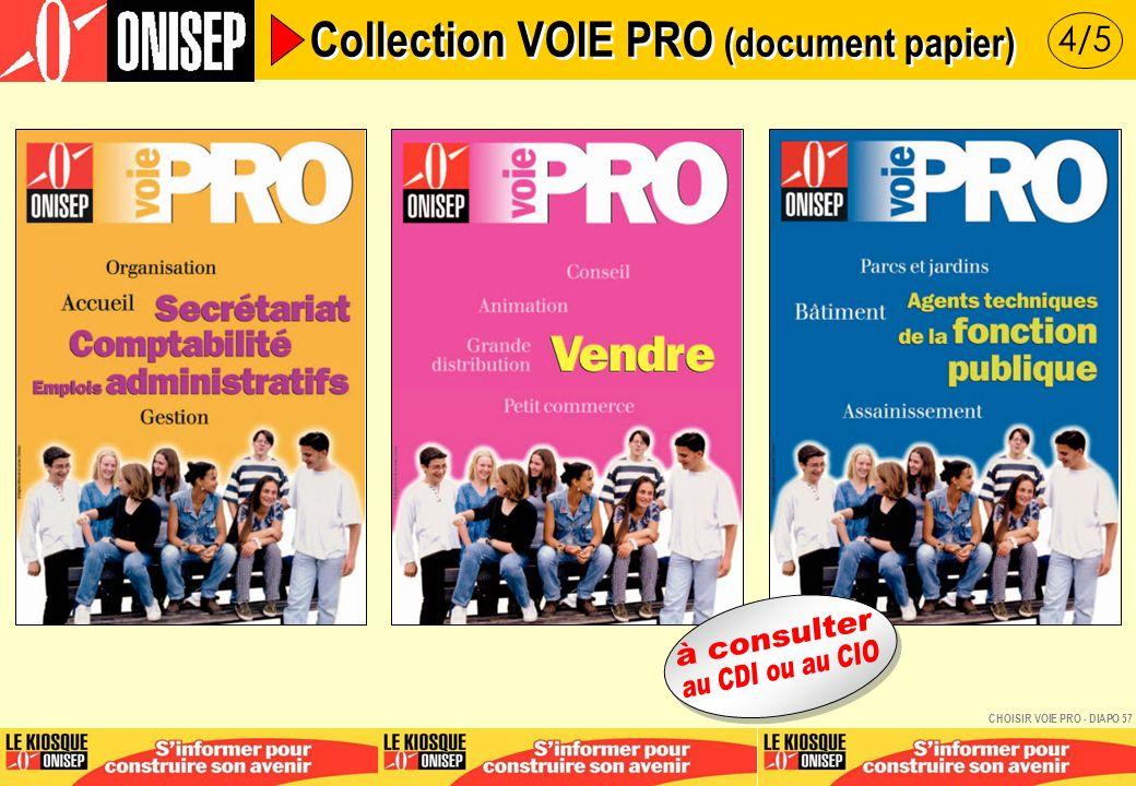 5/5 Collection VOIE PRO (document papier) CHOISIR VOIE PRO - DIAPO 58