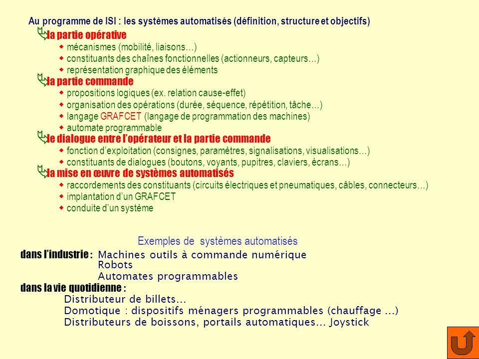 Manipuler observer dessiner des systèmes automatisés industriels ou grand public et comprendre leur fonctionnement ISI – initiation aux sciences de li
