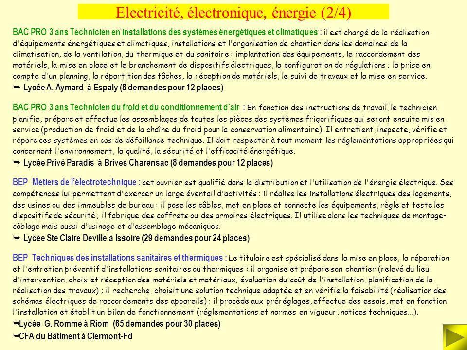 BAC PRO 3 ans Electrotechnique, énergie, équipements communicants : le titulaire intervient dans la production, le transport, la distribution et la tr