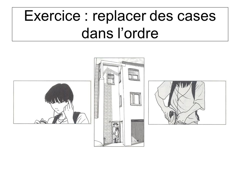 Exercice : replacer des cases dans lordre