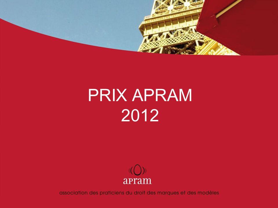 | 2 | Présentation du Prix APRAM Fondée en 1978, l APRAM est devenue aujourd hui l association francophone la plus représentative des praticiens des marques et des dessins et modèles.