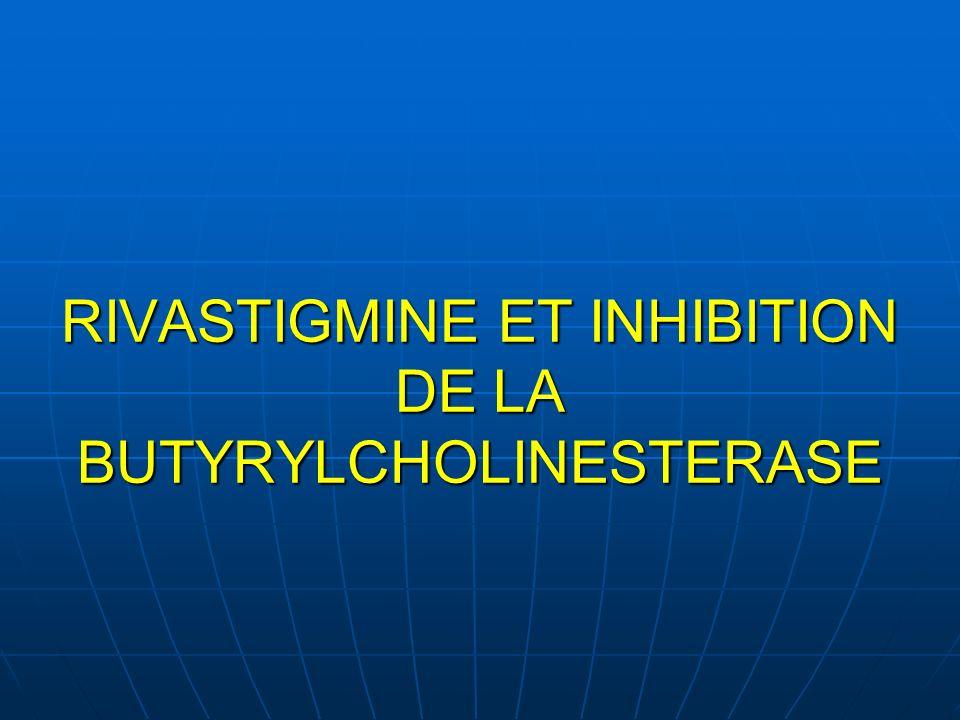 RIVASTIGMINE ET INHIBITION DE LA BUTYRYLCHOLINESTERASE