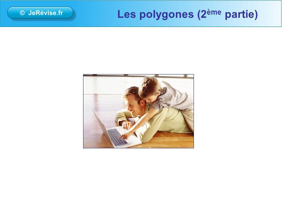 Un polygone est figure composée de traits droits qui se suivent et se referme sur elle-même.