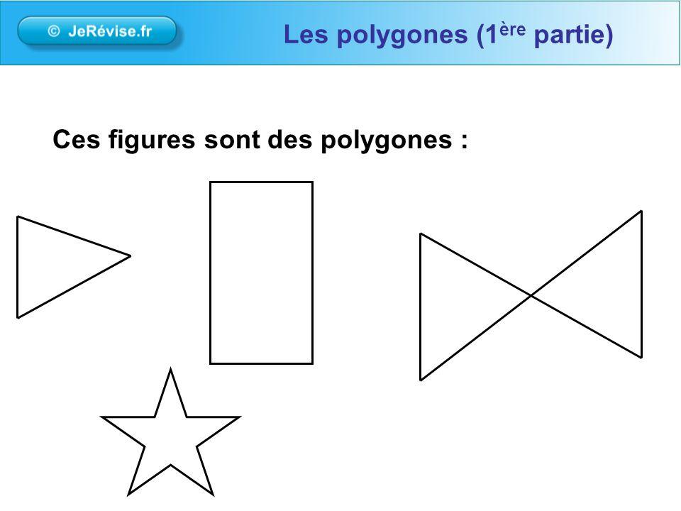 Ces figures sont des polygones : Les polygones (1 ère partie)