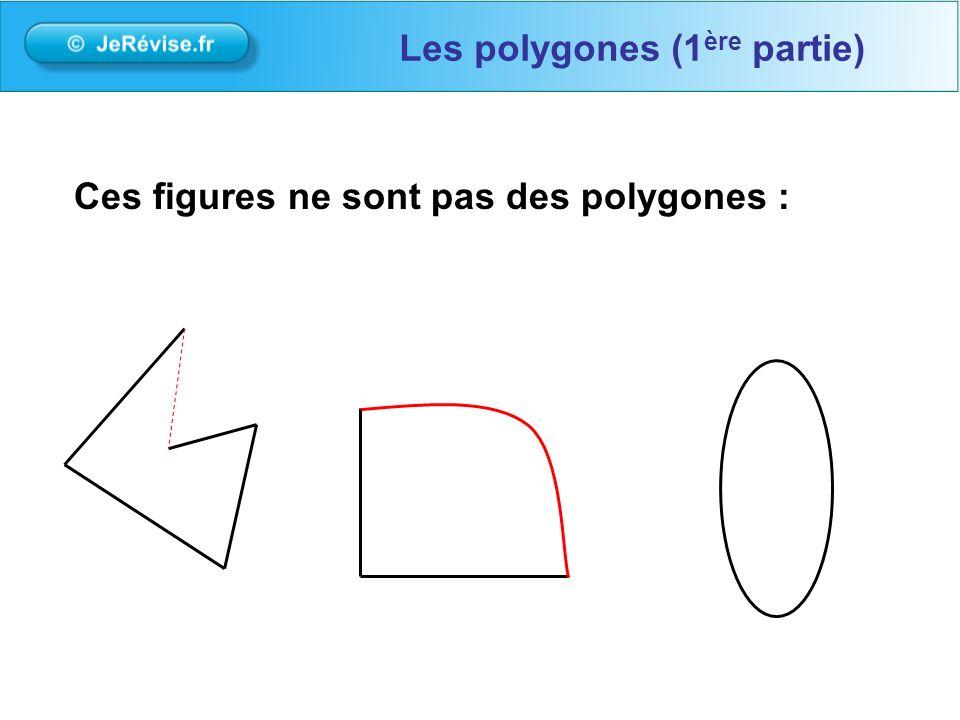 Ces figures ne sont pas des polygones : Les polygones (1 ère partie)